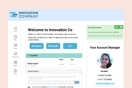 Personalise each of your client portal's groups home page