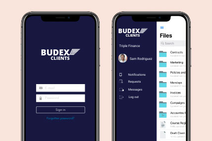 White-label mobile app for your client portal